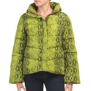 Betsey Johnson best puffer jacket green snake l